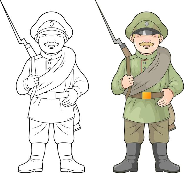 Russischer soldat, weltkrieg