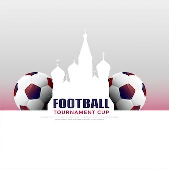 Russland-Fußballturnier-Spielhintergrund