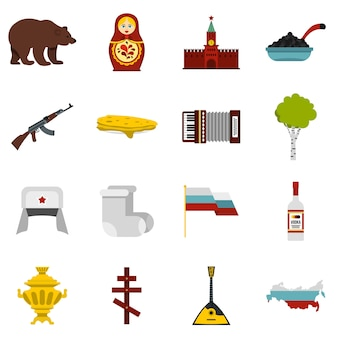 Russland icons set