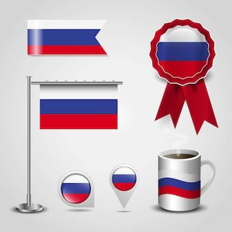 Russland landesflagge gestaltungselemente