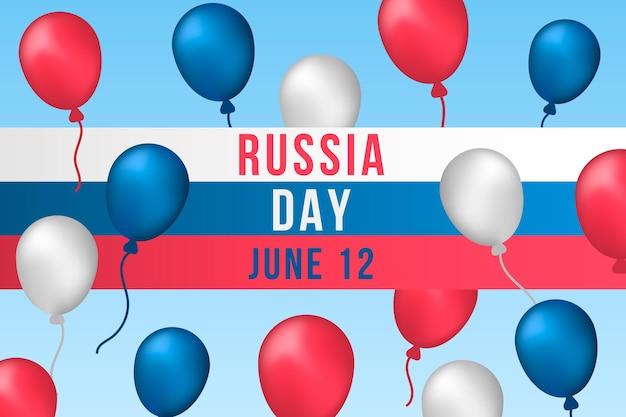 Russland tageshintergrund mit luftballons