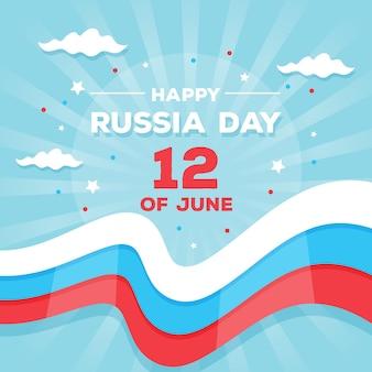 Russland-tageskonzept im flachen design