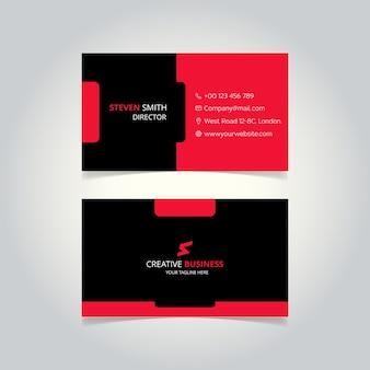 S brief logo minimal corporate visitenkarte mit schwarzer und roter farbe