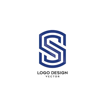 S buchstabe linear company logo design