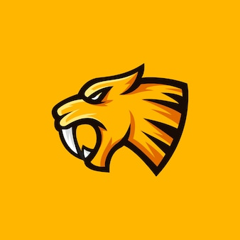 Sabertooth logo maskottchen abbildung