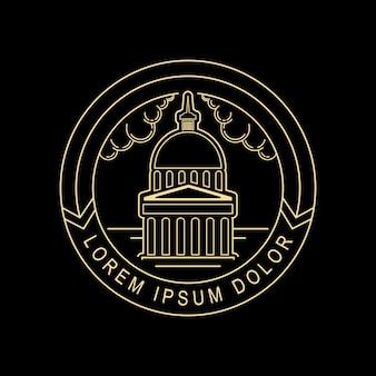 Sacramento logo linie kunst stil design