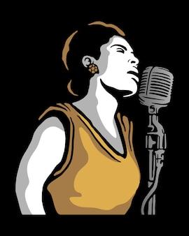 Sängerin illustration