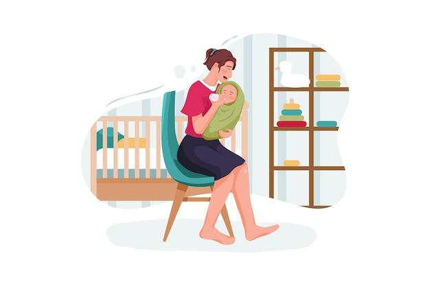 Säuglingsjunge, der milch von der plastikflaschenfütterung trinkt