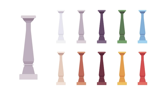 Säulenbaluster farbiges set