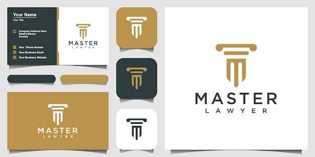 Säulenlogo-symbol entwirft .logo-entwurf und visitenkarte