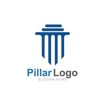 Säulenlogo-vorlage