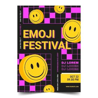Säure-emoji-plakatschablone