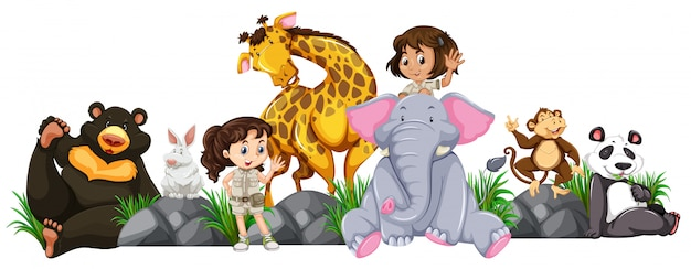 Safari girls und wilde tiere