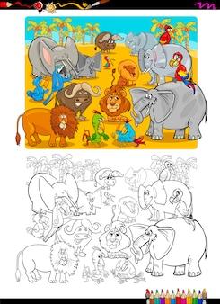 Safari tiere malbuch