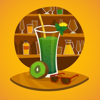 Saft-bar-konzept