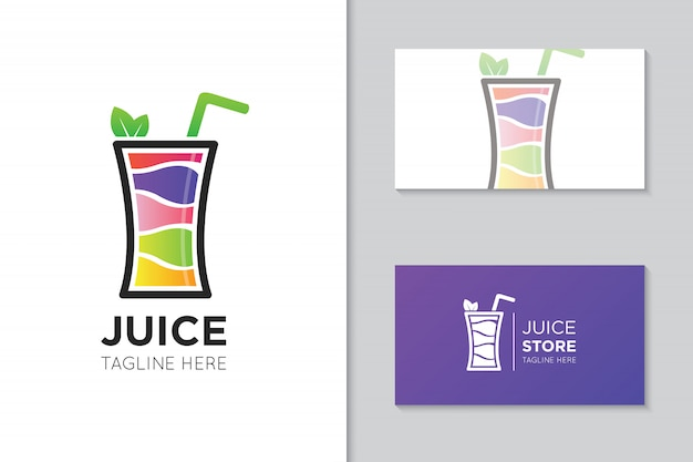Saft logo und visitenkarte vorlage
