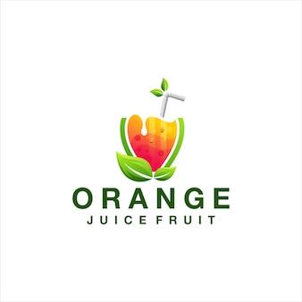 Saft orange farbverlauf logo design