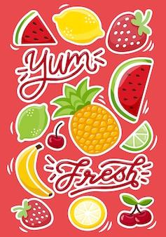 Saftige früchte