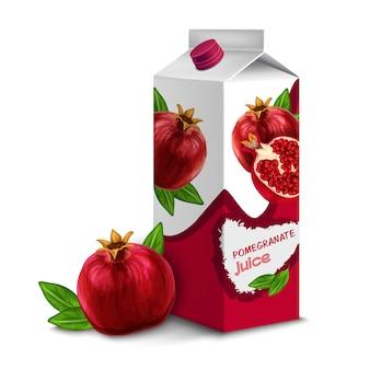 Saftpackung granatapfel