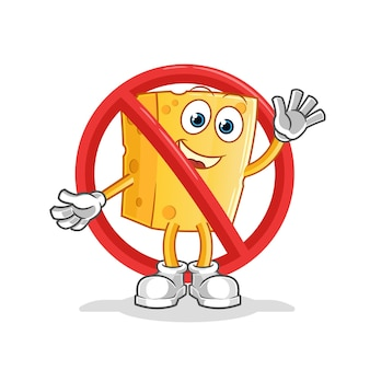 Sag nein zu käsemaskottchen. karikatur