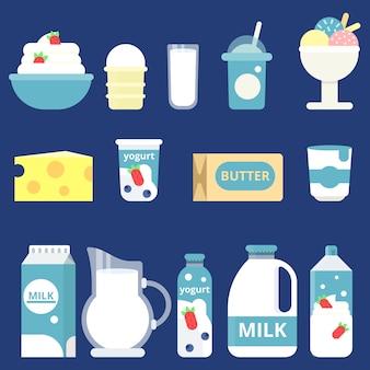Sahne, joghurt und käse