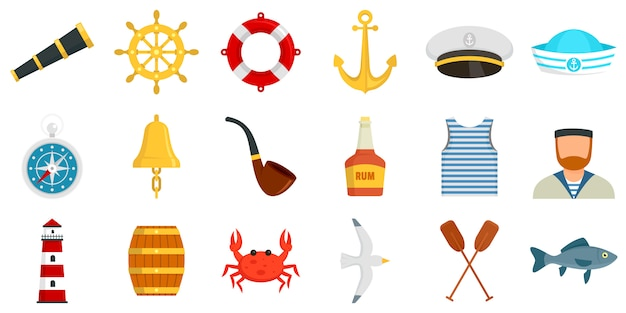 Sailor icons set