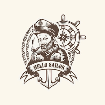 Sailor vintage-logo