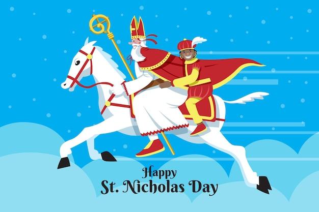 Saint nicholas tag illustration