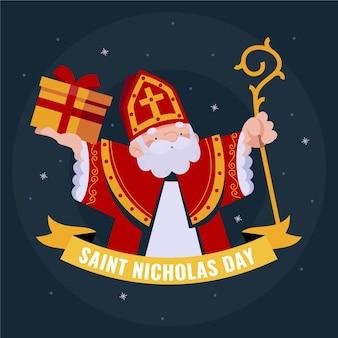 Saint nicholas tag illustriert