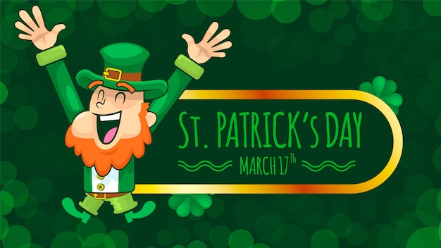 Saint patrick day und happy leprechaun
