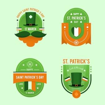 Saint patrick's day label sammlung