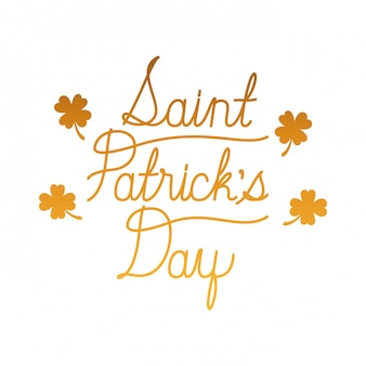 Saint patrick `s tag label isoliert symbol