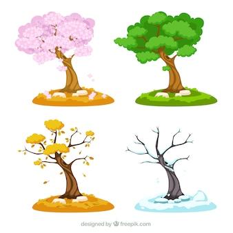 Saisonale bäume