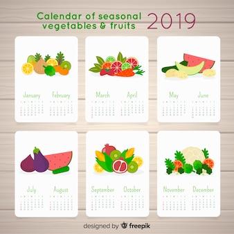 Saisonale gemüse- und obstkalender