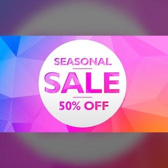 Saisonale verkaufsangebot und rabatt banner postervorlage design