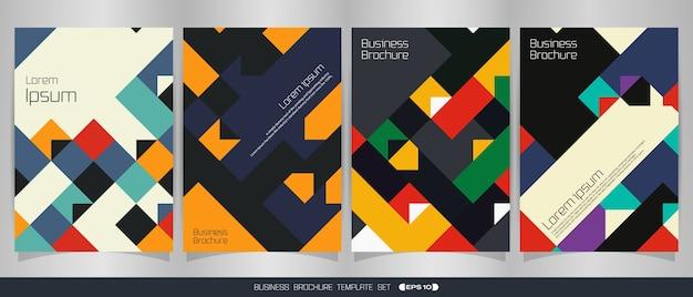 Saisonaler bunter broschürenklassiker im geometrischen muster.