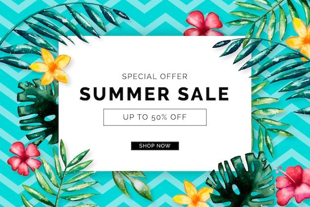 Saisonaler sommerschlussverkauf