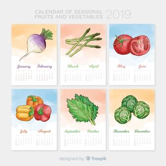 Saisonkalender von gemüse und früchten