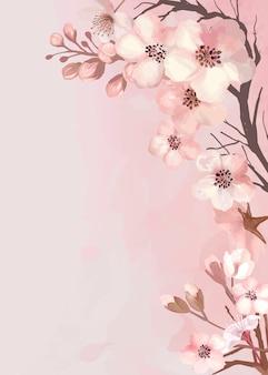 Sakura-grußkarte