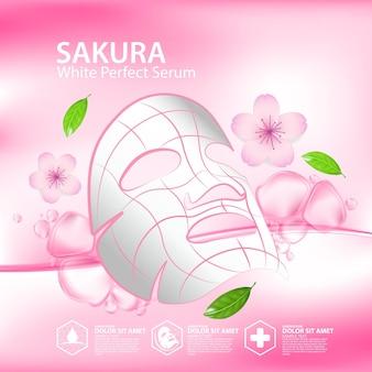 Sakura kollagenlösung natürliche hautpflege kosmetik