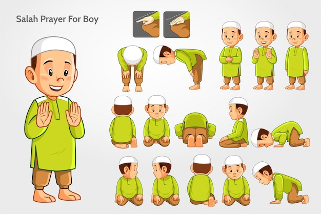 Salah gebet für jungen