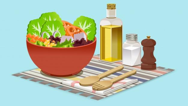 Salate für dich gesund essen