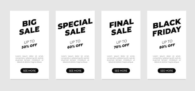 Sale-banner-design sauberer flyer auf weißem hintergrund flash-frisches mega-ultra-rabatt-einzelhandelsangebot