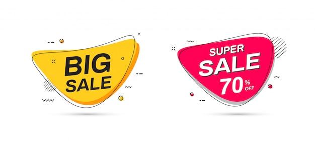Sale-banner-vorlagen. big sale, super sale banner.