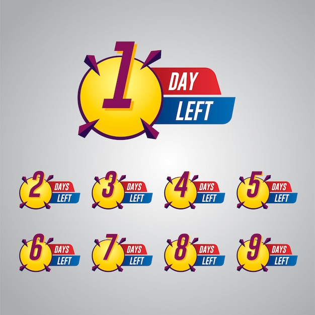 Sale countdown abzeichen