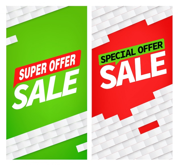 Sale farbe banner set