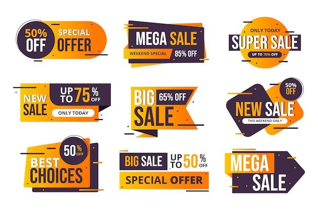 Sale label pack mit angebot