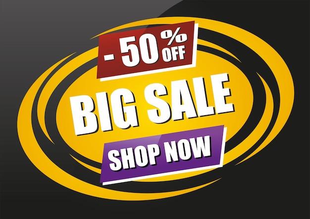 Sale sign 50 off big sale jetzt shoppen