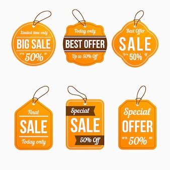 Sale tag pack