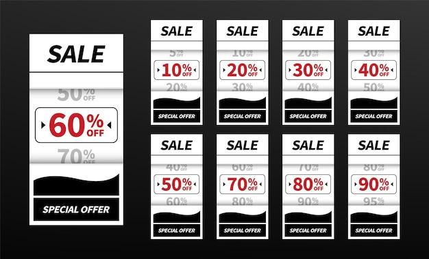 Sale tags banner